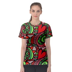 Seamless Tile Background Abstract Women s Sport Mesh Tee