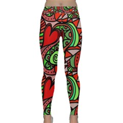 Seamless Tile Background Abstract Classic Yoga Leggings