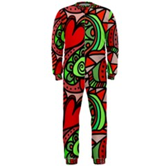 Seamless Tile Background Abstract Onepiece Jumpsuit (men)