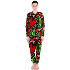 Seamless Tile Background Abstract OnePiece Jumpsuit (Ladies)