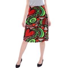 Seamless Tile Background Abstract Midi Beach Skirt