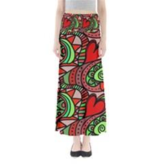 Seamless Tile Background Abstract Maxi Skirts