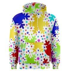 Seamless Snowflake Pattern Men s Pullover Hoodie