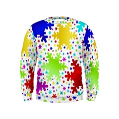 Seamless Snowflake Pattern Kids  Sweatshirt