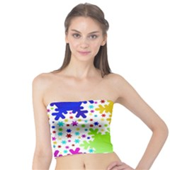 Seamless Snowflake Pattern Tube Top