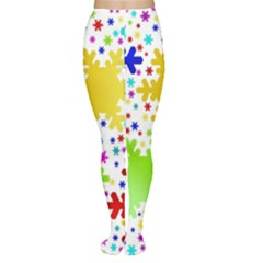 Seamless Snowflake Pattern Women s Tights