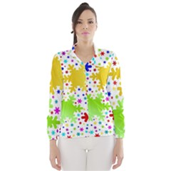 Seamless Snowflake Pattern Wind Breaker (Women)