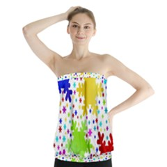 Seamless Snowflake Pattern Strapless Top