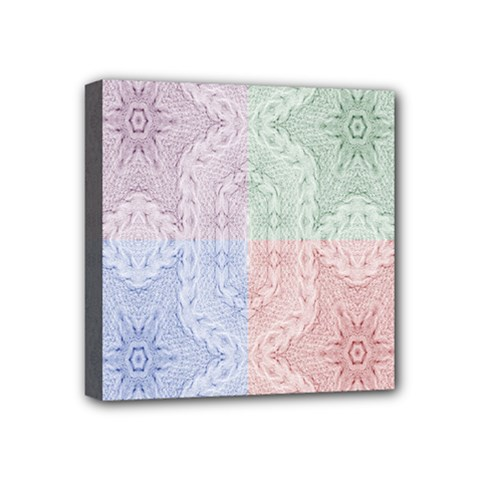 Seamless Kaleidoscope Patterns In Different Colors Based On Real Knitting Pattern Mini Canvas 4  x 4