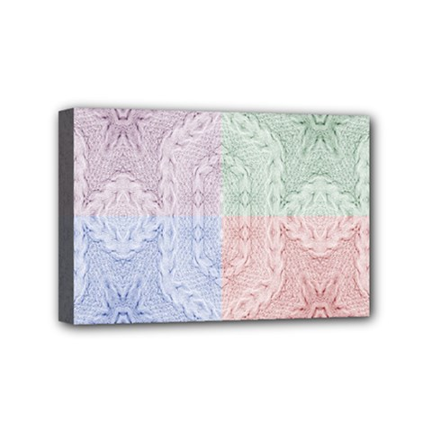 Seamless Kaleidoscope Patterns In Different Colors Based On Real Knitting Pattern Mini Canvas 6  x 4