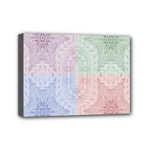 Seamless Kaleidoscope Patterns In Different Colors Based On Real Knitting Pattern Mini Canvas 7  x 5