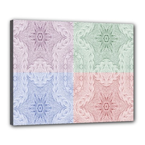 Seamless Kaleidoscope Patterns In Different Colors Based On Real Knitting Pattern Canvas 20  X 16