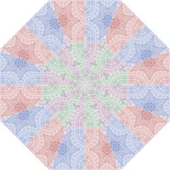 Seamless Kaleidoscope Patterns In Different Colors Based On Real Knitting Pattern Straight Umbrellas
