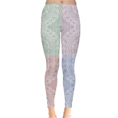 Seamless Kaleidoscope Patterns In Different Colors Based On Real Knitting Pattern Leggings