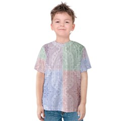 Seamless Kaleidoscope Patterns In Different Colors Based On Real Knitting Pattern Kids  Cotton Tee