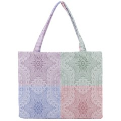 Seamless Kaleidoscope Patterns In Different Colors Based On Real Knitting Pattern Mini Tote Bag