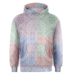 Seamless Kaleidoscope Patterns In Different Colors Based On Real Knitting Pattern Men s Pullover Hoodie