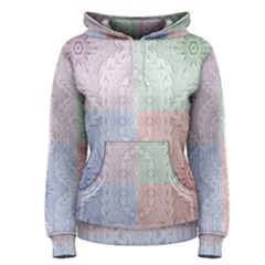 Seamless Kaleidoscope Patterns In Different Colors Based On Real Knitting Pattern Women s Pullover Hoodie