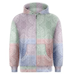 Seamless Kaleidoscope Patterns In Different Colors Based On Real Knitting Pattern Men s Zipper Hoodie