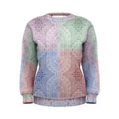 Seamless Kaleidoscope Patterns In Different Colors Based On Real Knitting Pattern Women s Sweatshirt