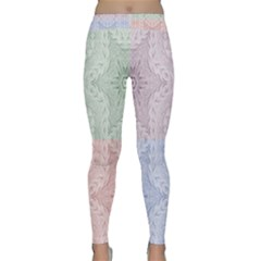 Seamless Kaleidoscope Patterns In Different Colors Based On Real Knitting Pattern Classic Yoga Leggings