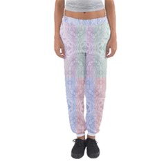 Seamless Kaleidoscope Patterns In Different Colors Based On Real Knitting Pattern Women s Jogger Sweatpants