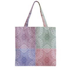 Seamless Kaleidoscope Patterns In Different Colors Based On Real Knitting Pattern Zipper Grocery Tote Bag