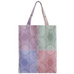 Seamless Kaleidoscope Patterns In Different Colors Based On Real Knitting Pattern Zipper Classic Tote Bag