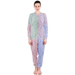 Seamless Kaleidoscope Patterns In Different Colors Based On Real Knitting Pattern OnePiece Jumpsuit (Ladies)