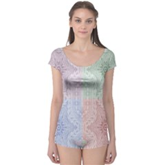 Seamless Kaleidoscope Patterns In Different Colors Based On Real Knitting Pattern Boyleg Leotard