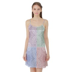 Seamless Kaleidoscope Patterns In Different Colors Based On Real Knitting Pattern Satin Night Slip