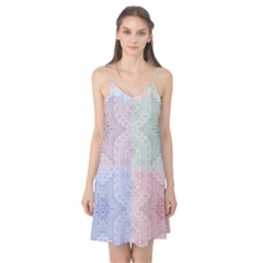 Seamless Kaleidoscope Patterns In Different Colors Based On Real Knitting Pattern Camis Nightgown