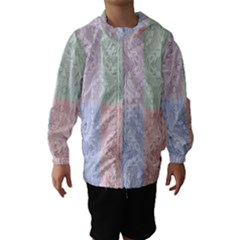 Seamless Kaleidoscope Patterns In Different Colors Based On Real Knitting Pattern Hooded Wind Breaker (Kids)