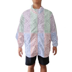 Seamless Kaleidoscope Patterns In Different Colors Based On Real Knitting Pattern Wind Breaker (kids)