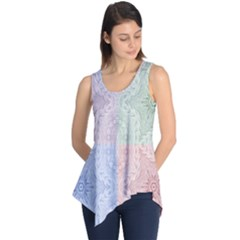 Seamless Kaleidoscope Patterns In Different Colors Based On Real Knitting Pattern Sleeveless Tunic