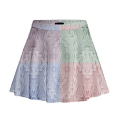 Seamless Kaleidoscope Patterns In Different Colors Based On Real Knitting Pattern Mini Flare Skirt
