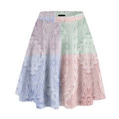 Seamless Kaleidoscope Patterns In Different Colors Based On Real Knitting Pattern High Waist Skirt