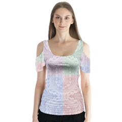 Seamless Kaleidoscope Patterns In Different Colors Based On Real Knitting Pattern Butterfly Sleeve Cutout Tee