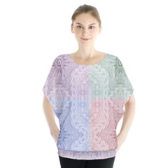Seamless Kaleidoscope Patterns In Different Colors Based On Real Knitting Pattern Blouse