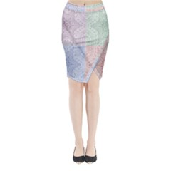 Seamless Kaleidoscope Patterns In Different Colors Based On Real Knitting Pattern Midi Wrap Pencil Skirt