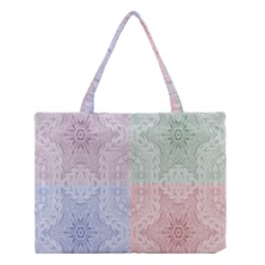 Seamless Kaleidoscope Patterns In Different Colors Based On Real Knitting Pattern Medium Tote Bag