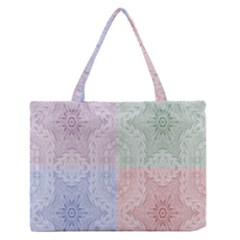 Seamless Kaleidoscope Patterns In Different Colors Based On Real Knitting Pattern Medium Zipper Tote Bag