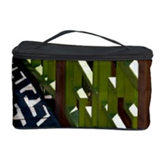 Shadow Reflections Casting From Japanese Garden Fence Cosmetic Storage Case