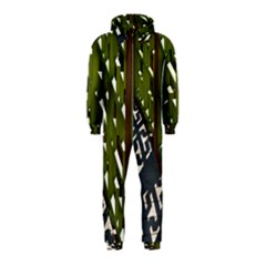 Shadow Reflections Casting From Japanese Garden Fence Hooded Jumpsuit (kids)