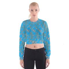 Seamless Pattern Background Seamless Women s Cropped Sweatshirt