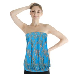 Seamless Pattern Background Seamless Strapless Top
