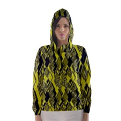 Seamless Pattern Background Seamless Hooded Wind Breaker (Women)