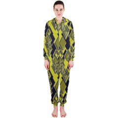 Seamless Pattern Background Seamless Hooded Jumpsuit (ladies)
