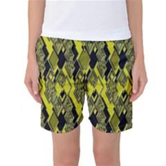 Seamless Pattern Background Seamless Women s Basketball Shorts