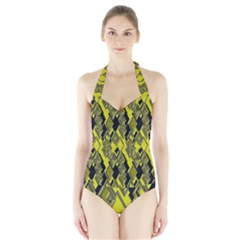 Seamless Pattern Background Seamless Halter Swimsuit